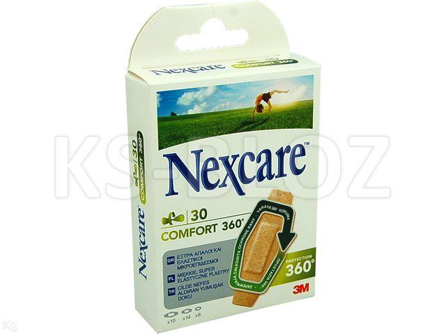 Plast.Nexcare COMFORT 360 interakcje ulotka   30 szt.