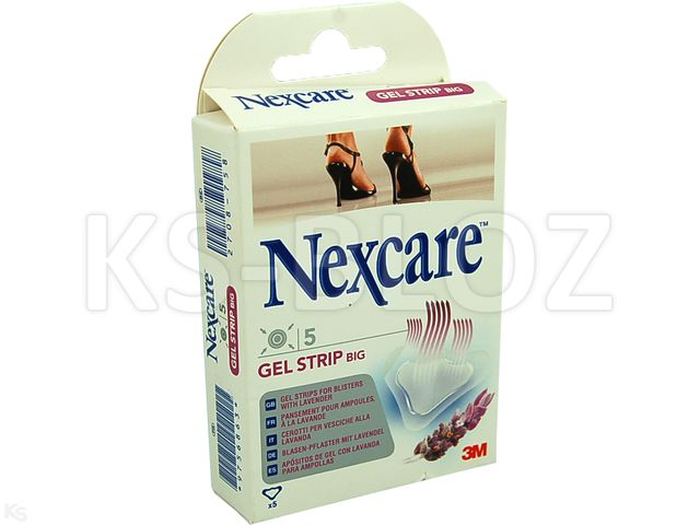Plast.Nexcare GEL STRIP Big interakcje ulotka   5 szt.