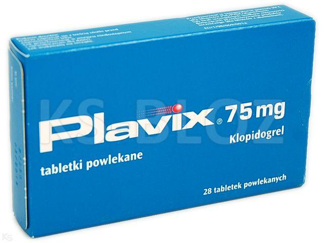 Plavix interakcje ulotka tabletki powlekane 0,075 g 28 tabl.