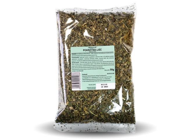 Pokrzywa liść interakcje ulotka zioła do zaparzania  50 g