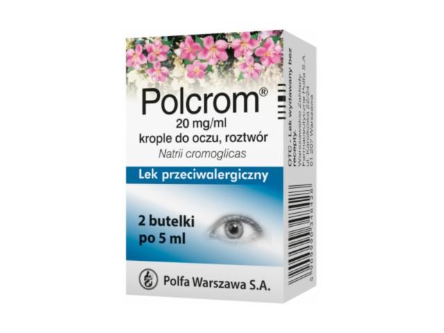 Polcrom interakcje ulotka krople do oczu, roztwór 0,02 g/ml 10 ml