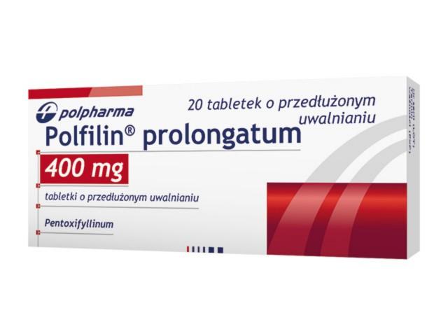 Polfilin prolongatum interakcje ulotka tabletki o przedłużonym uwalnianiu 0,4 g 20 tabl.