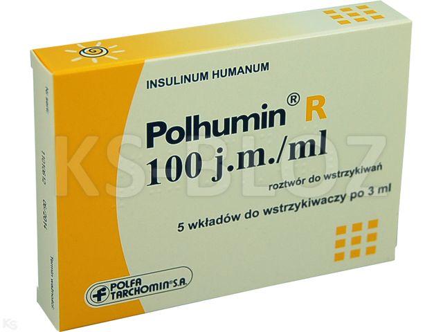Polhumin R interakcje ulotka roztwór do wstrzykiwań 100 j.m./ml 5 wkł. po 3 ml