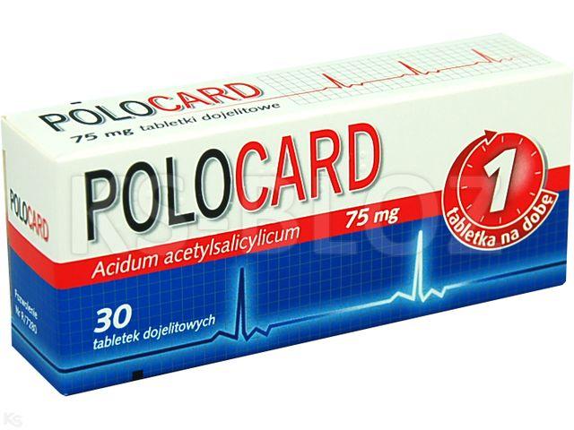 Polocard interakcje ulotka tabletki powlekane dojelitowe 0,075 g 30 tabl.