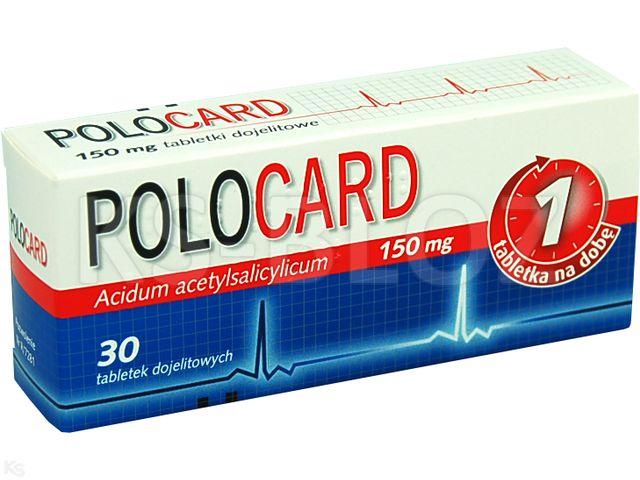 Polocard interakcje ulotka tabletki powlekane dojelitowe 0,15 g 30 tabl.