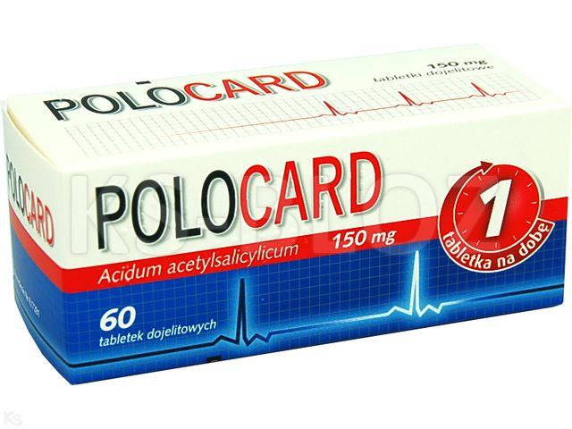 Polocard interakcje ulotka tabletki powlekane dojelitowe 0,15 g 60 tabl.