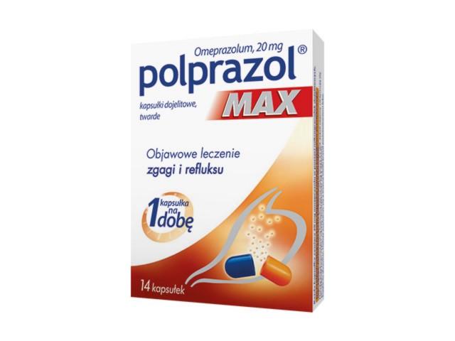 Polprazol Max interakcje ulotka kapsułki dojelitowe twarde 0,02 g 14 kaps.