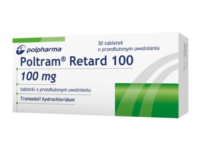 Poltram Retard 100 interakcje ulotka tabletki o przedłużonym uwalnianiu 0,1 g 50 tabl.