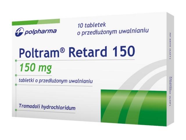 Poltram Retard 150 interakcje ulotka tabletki o przedłużonym uwalnianiu 0,15 g 10 tabl.