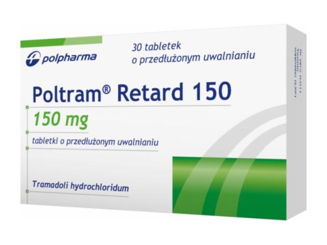 Poltram Retard 150 interakcje ulotka tabletki o przedłużonym uwalnianiu 0,15 g 30 tabl.