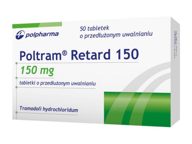 Poltram Retard 150 interakcje ulotka tabletki o przedłużonym uwalnianiu 0,15 g 50 tabl.