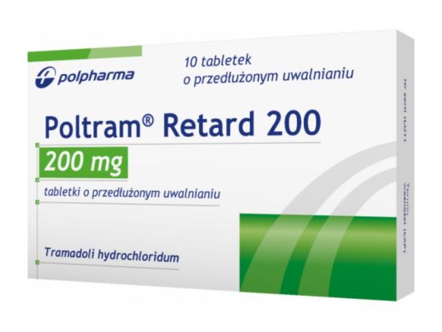 Poltram Retard 200 interakcje ulotka tabletki o przedłużonym uwalnianiu 0,2 g 10 tabl.