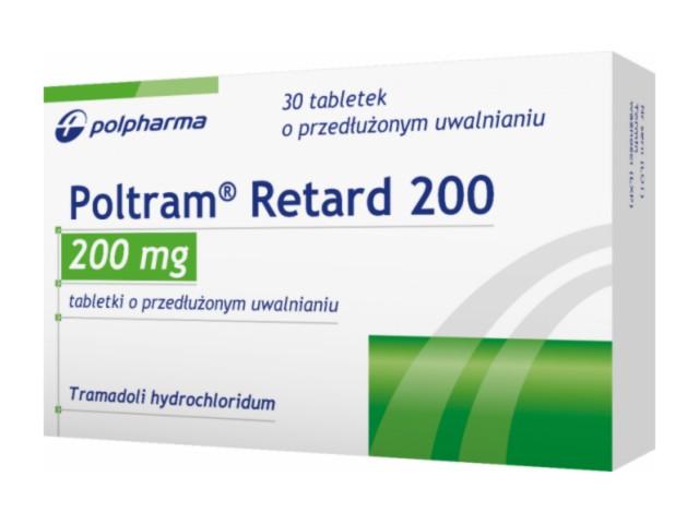 Poltram Retard 200 interakcje ulotka tabletki o przedłużonym uwalnianiu 0,2 g 30 tabl.