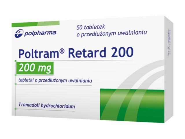Poltram Retard 200 interakcje ulotka tabletki o przedłużonym uwalnianiu 0,2 g 50 tabl.