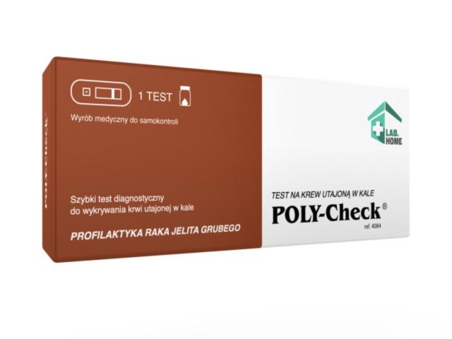 Poly-Check Test na krew utajoną w kale interakcje ulotka   1 szt.