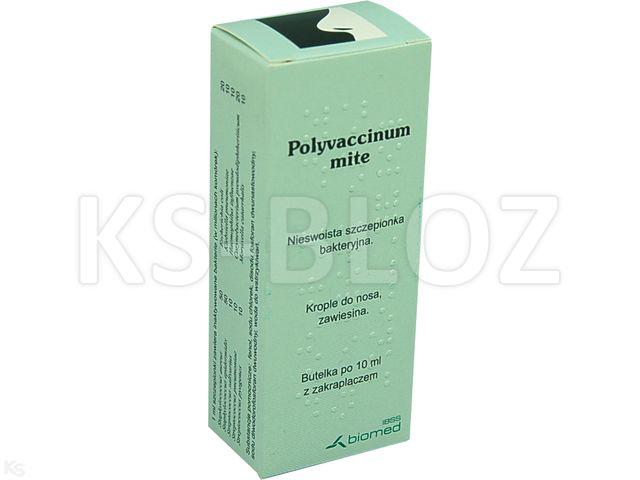 Polyvaccinum mite interakcje ulotka krople do nosa, zawiesina  10 ml