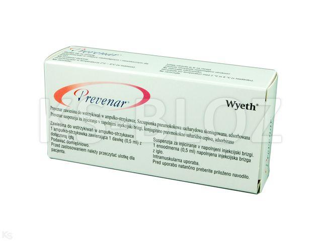 Prevenar szczep. interakcje ulotka zawiesina do wstrzykiwań 1 daw. (0,5 ml) 1 amp.-strz. po 0,5 ml