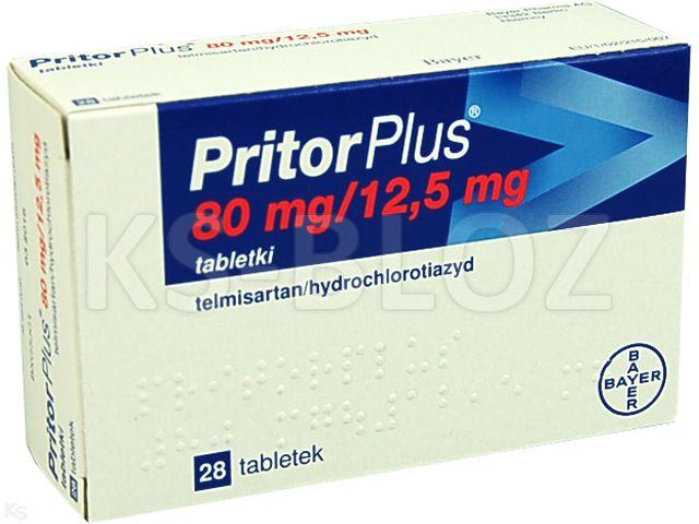 PritorPlus interakcje ulotka tabletki 0,08g+0,0125g 28 tabl.