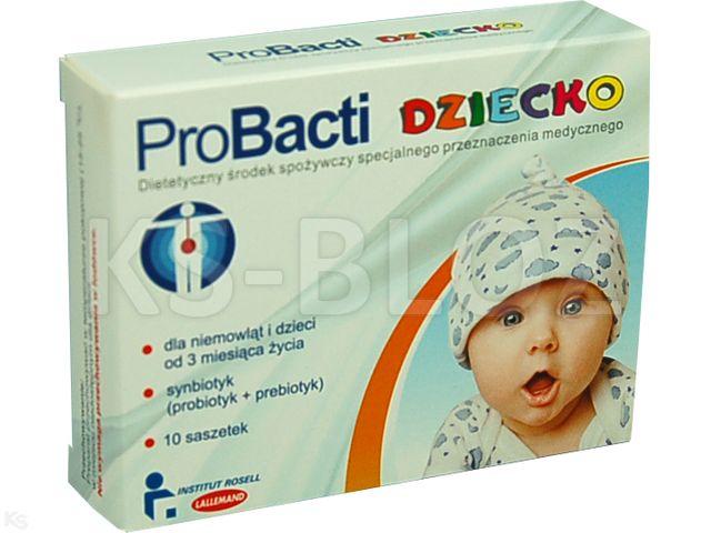 ProBacti Dziecko interakcje ulotka saszetka  10 sasz.