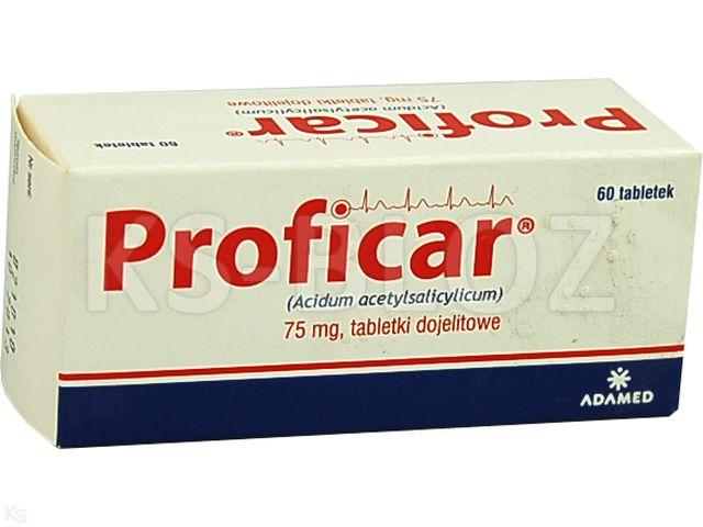 Proficar interakcje ulotka tabletki dojelitowe 0,075 g 60 tabl.