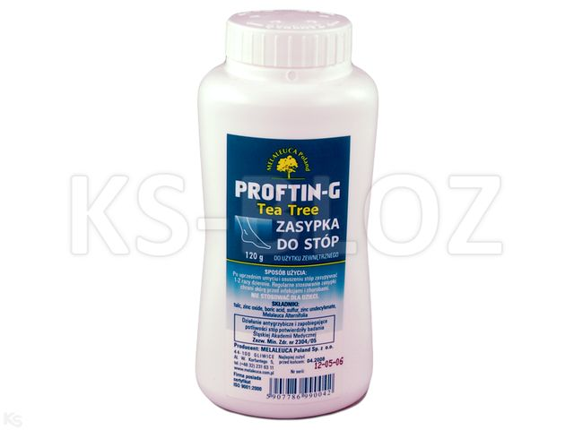 Proftin -G p/grzyb.Tea Tre d/stóp interakcje ulotka zasypka  120 g