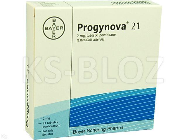 Progynova 21 interakcje ulotka tabletki powlekane 2 mg 21 tabl.