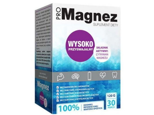 ProMagnez Cytrynian Magnezu interakcje ulotka proszek do przygotowania roztworu doustnego  30 sasz. po 4 g