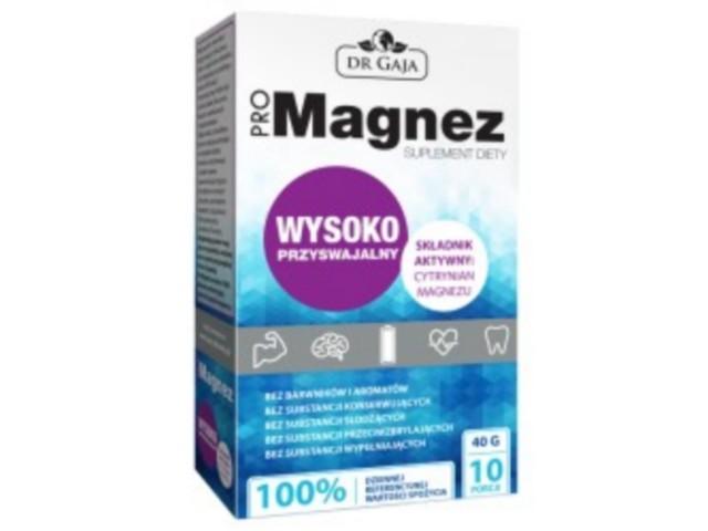 ProMagnez Cytrynian Magnezu interakcje ulotka proszek do przygotowania roztworu doustnego  10 sasz. po 4 g