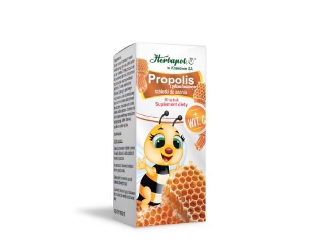 Propolis z Pyłkiem Kwiatowym interakcje ulotka tabletki do ssania  30 tabl.