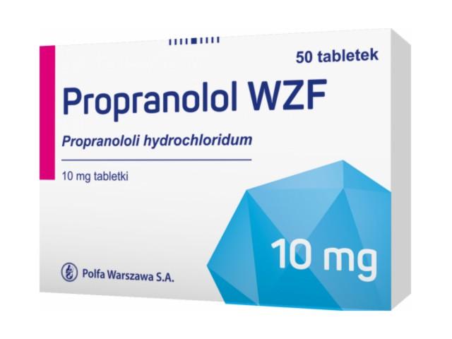 Propranolol WZF interakcje ulotka tabletki 0,01 g 50 tabl.