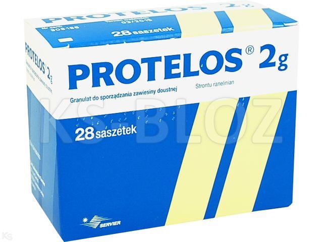 Protelos interakcje ulotka granulat do przygotowania zawiesiny doustnej 2 g 28 sasz.