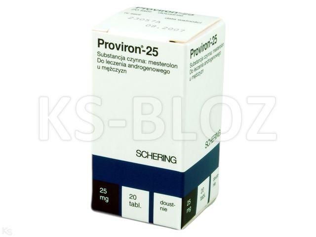 Proviron-25 interakcje ulotka tabletki 0,025 g 20 tabl.