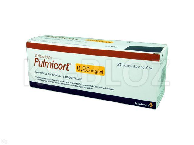 Pulmicort interakcje ulotka zawiesina do nebulizacji 0,25 mg/ml 20 poj. po 2 ml