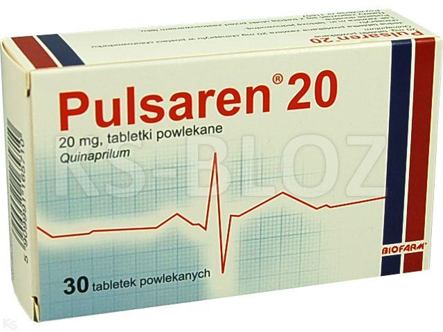 Pulsaren 20 interakcje ulotka tabletki powlekane 0,02 g 30 tabl.