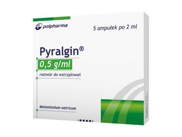 Pyralgin interakcje ulotka roztwór do wstrzykiwań 0,5 g/ml 5 amp. po 2 ml