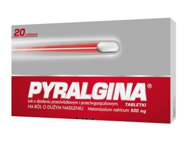 Pyralgina interakcje ulotka tabletki 0,5 g 20 tabl.