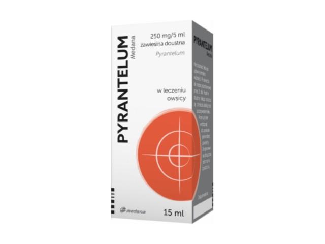 Pyrantelum Medana interakcje ulotka zawiesina doustna 0,25 g/5ml 15 ml