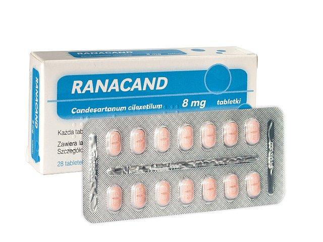 Ranacand interakcje ulotka tabletki 8 mg 28 tabl.