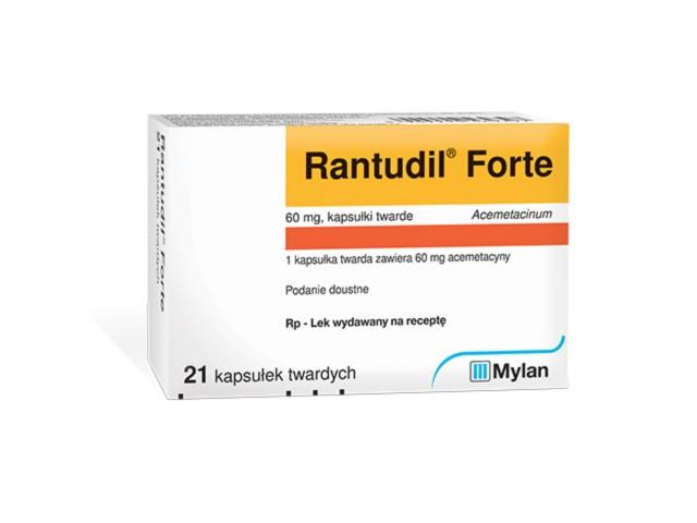 Rantudil Forte interakcje ulotka kapsułki twarde 0,06 g 21 kaps.
