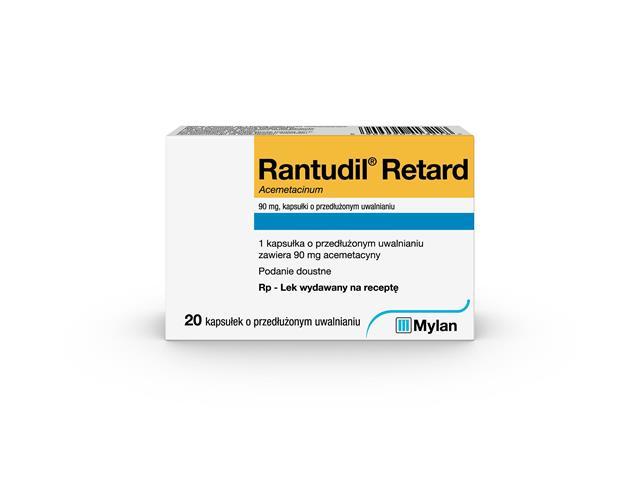 Rantudil Retard interakcje ulotka kapsułki o przedłużonym uwalnianiu 0,09 g 20 kaps.