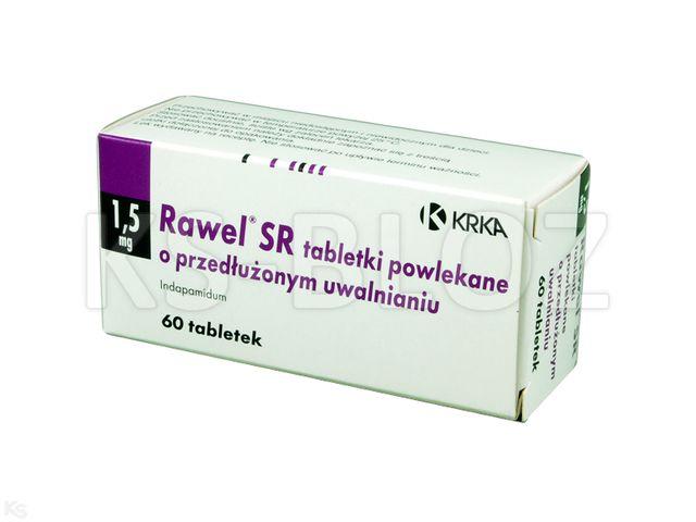 Rawel SR interakcje ulotka tabletki powlekane o przedłużonym uwalnianiu 1,5 mg 60 tabl.