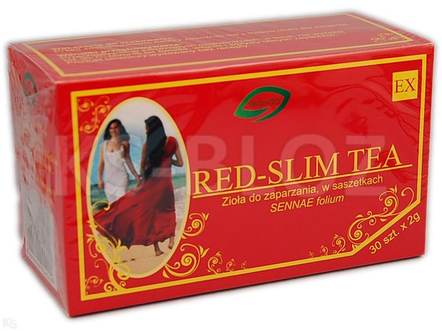 Red Senes Tea (Red-Slim Tea) (Red-Slim Tea) interakcje ulotka zioła do zaparzania w saszetkach 2 g 30 toreb.