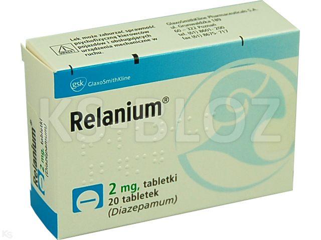 Relanium interakcje ulotka tabletki 2 mg 20 tabl.