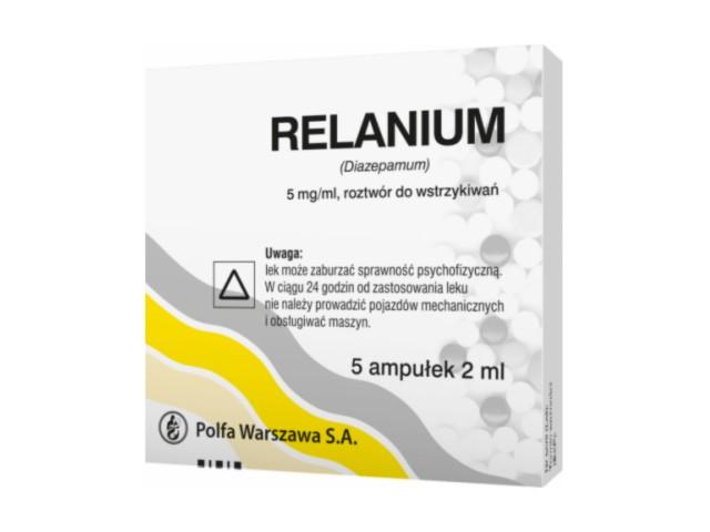 Relanium interakcje ulotka roztwór do wstrzykiwań 5 mg/ml 5 amp. po 2 ml