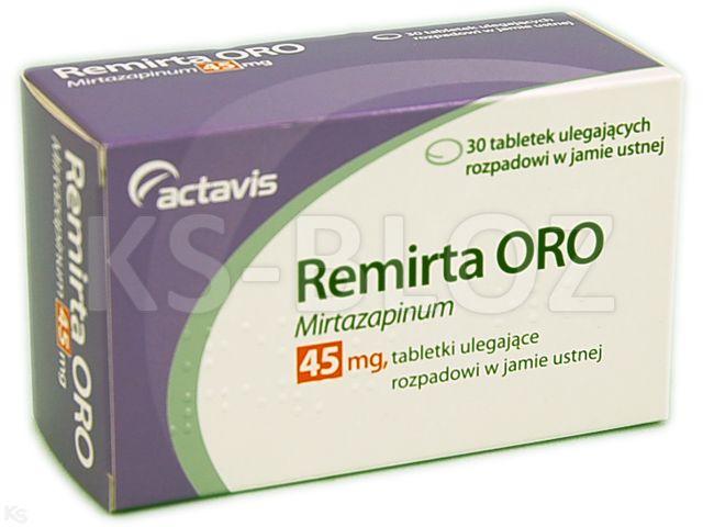 Remirta Oro interakcje ulotka tabletki ulegające rozpadowi w jamie ustnej 0,045 g 30 tabl.