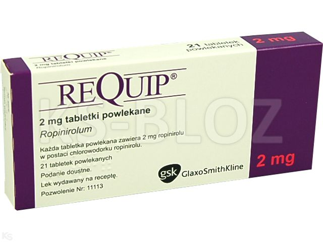 Requip interakcje ulotka tabletki powlekane 2 mg 21 tabl. | blist.