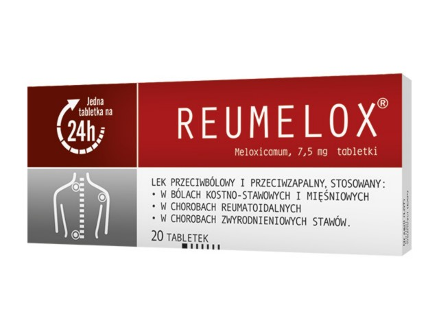 Reumelox interakcje ulotka tabletki 7,5 mg 20 tabl.
