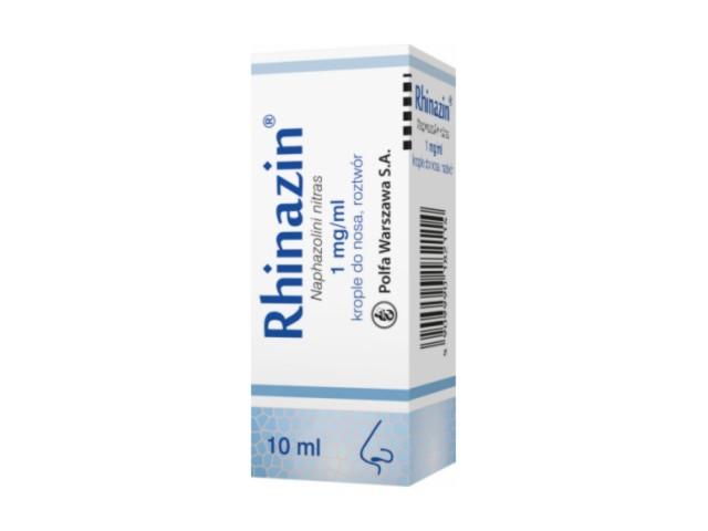 Rhinazin interakcje ulotka krople do nosa, roztwór 1 mg/ml 10 ml