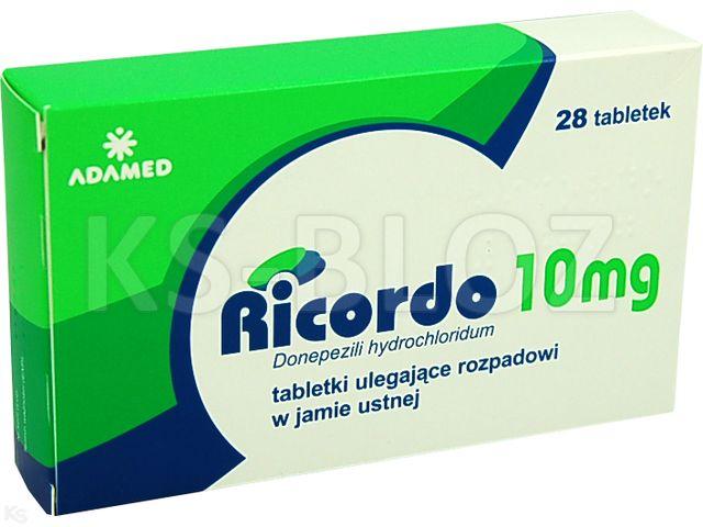 Ricordo interakcje ulotka tabletki ulegające rozpadowi w jamie ustnej 0,01 g 28 tabl.
