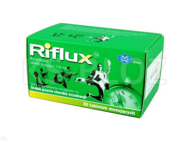 Riflux interakcje ulotka tabletki musujące 0,15 g 30 tabl.